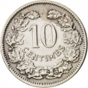 10 Centimes 1901, KM# 25, Luxembourg, Adolphe