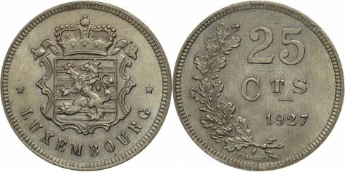 25 Centimes Luxembourg 1927