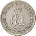5 Centimes 1924, KM# 33, Luxembourg, Charlotte