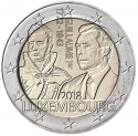2 Euro 2018, Luxembourg, Henri, 175th Anniversary of Death of Grand Duke Guillaume I