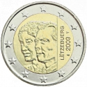 2 Euro 2009, KM# 106, Luxembourg, Henri, 90th Anniversary of the Accession of Grand Duchess Charlotte to the Throne