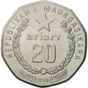 20 Ariary 1999, KM# 24.2, Madagascar, Food and Agriculture Organization (FAO)