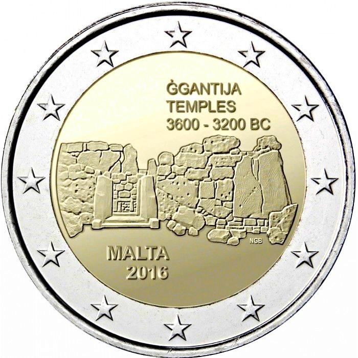 MALTA 2016 2Euro Commemorative /'Ggantija/' Temple coin