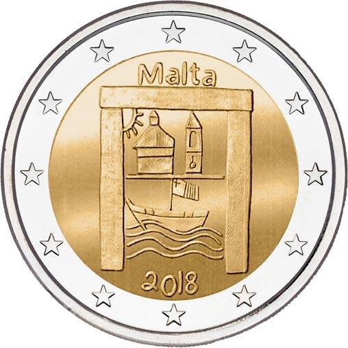 2 Euro 2018, Malta, From Children in Solidarity, Cultural Heritage