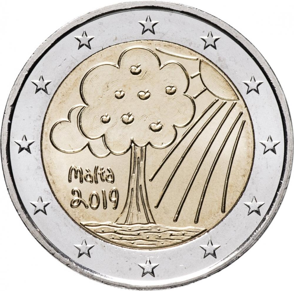 Children and Solidarity LOVE MALTA 2 € commemorative euro coin 2016