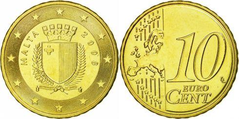 10 euro cent malta 2008 2019 km 128 coinbrothers catalog. Black Bedroom Furniture Sets. Home Design Ideas