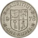 1 Rupee 1956-1978, KM# 35, Mauritius, Elizabeth II