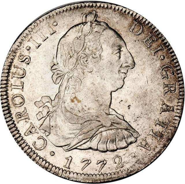 foto de 8 Reales Mexico, New Spain 1772-1789, KM# 106 | CoinBrothers Catalog