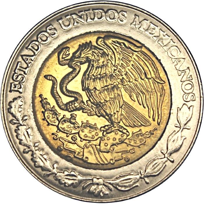BIMETALLIC COIN 5 Pesos KM894 UNC 2008 Ignacio Lopez Rayon MEXICO COMM