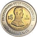 5 Pesos 2008, KM# 894, Mexico, 200th Anniversary of Mexican Independence, Ignacio López Rayón