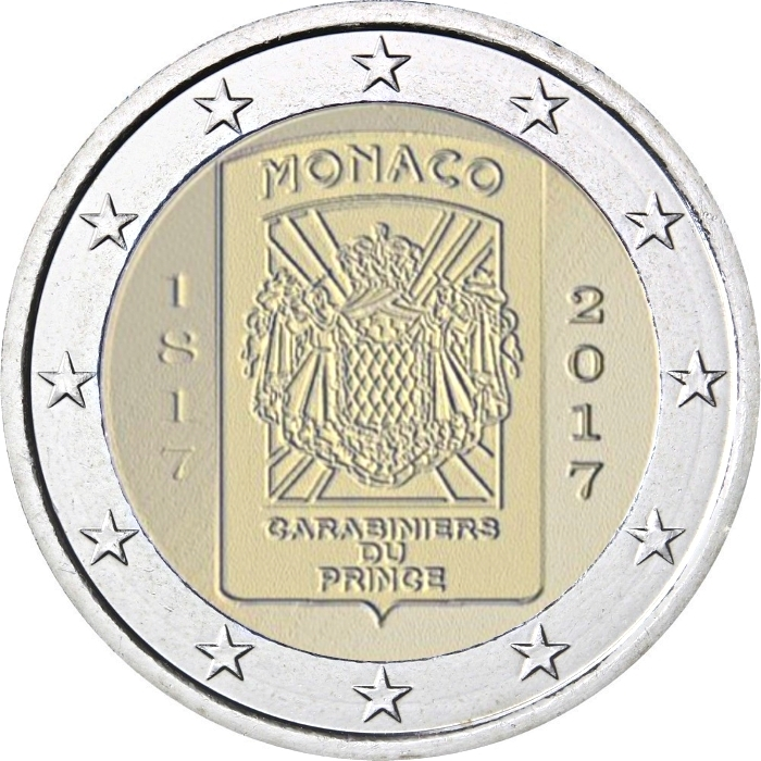 2 euro monaco 2017 coinbrothers catalog. Black Bedroom Furniture Sets. Home Design Ideas