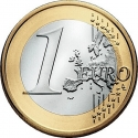 1 Euro 2014-2016, KM# 350, Netherlands, Willem-Alexander
