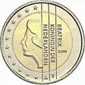 2 Euro 2007-2013, KM# 272, Netherlands, Beatrix