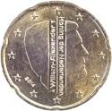 20 Euro Cent 2014-2016, KM# 348, Netherlands, Willem-Alexander