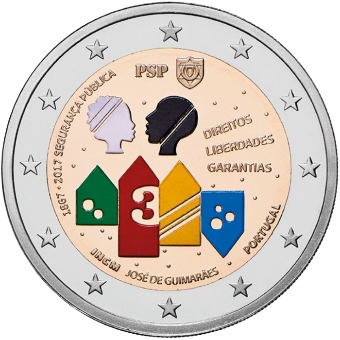 2 Euro 2017, Portugal, 150th Anniversary of the Establishment of Public Security Police