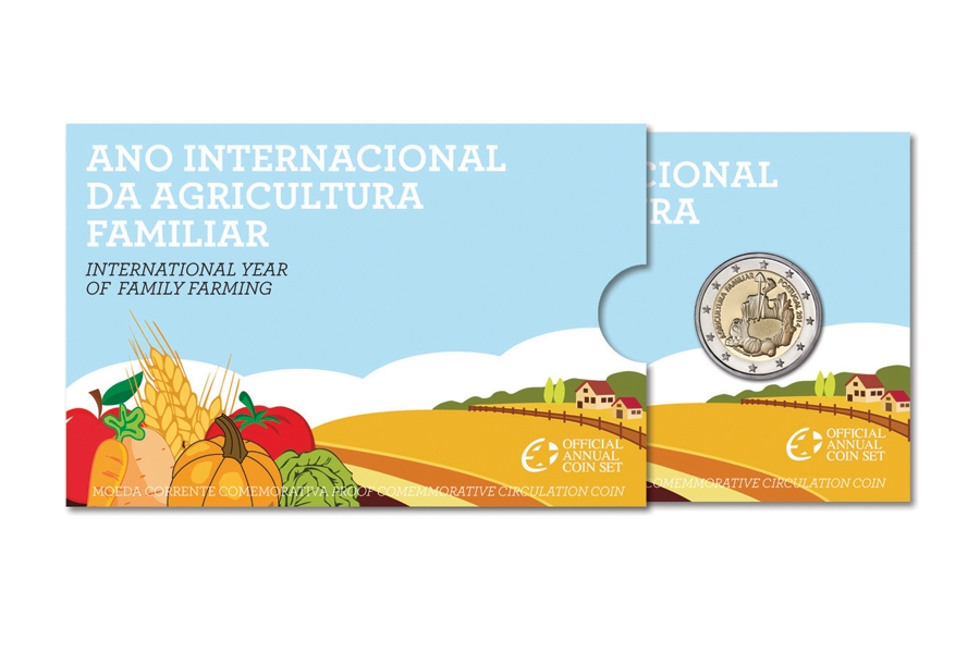 2 Euro 2014, KM# 839, Portugal, International Year of Family Farming, Folder