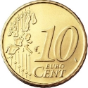 10 Euro Cent 2002-2007, KM# 743, Portugal