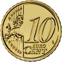 10 Euro Cent 2008-2016, KM# 763, Portugal
