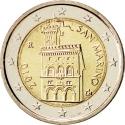 2 Euro 2008-2016, KM# 486, San Marino