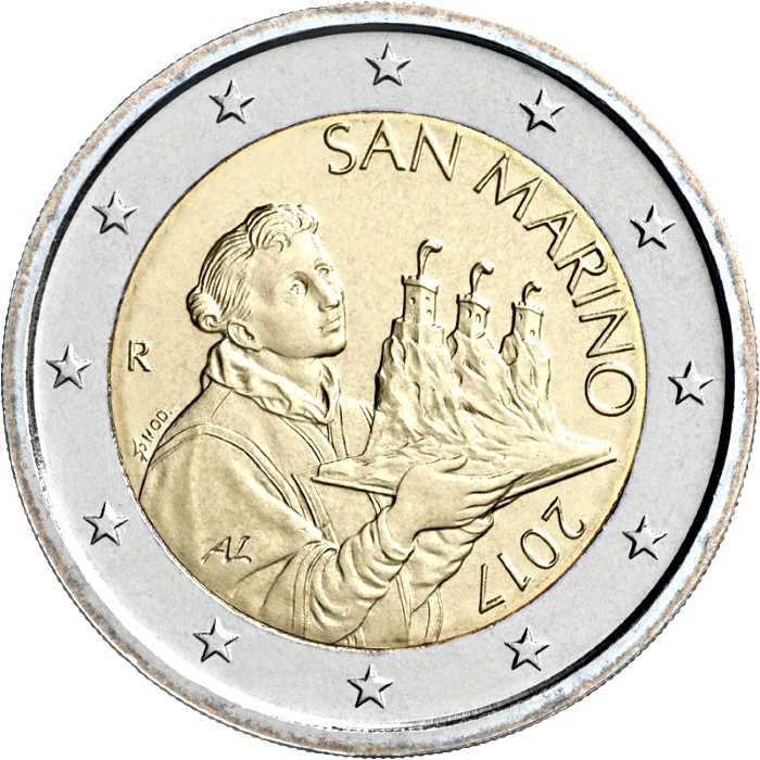 SAN MARINO 2 Euro 2019 national side coin IN STOCK UNC