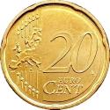 20 Euro Cent 2008-2016, KM# 483, San Marino