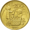 200 Lire 1995, KM# 329, San Marino, Civil Commitments for the 3rd Millennium, Children