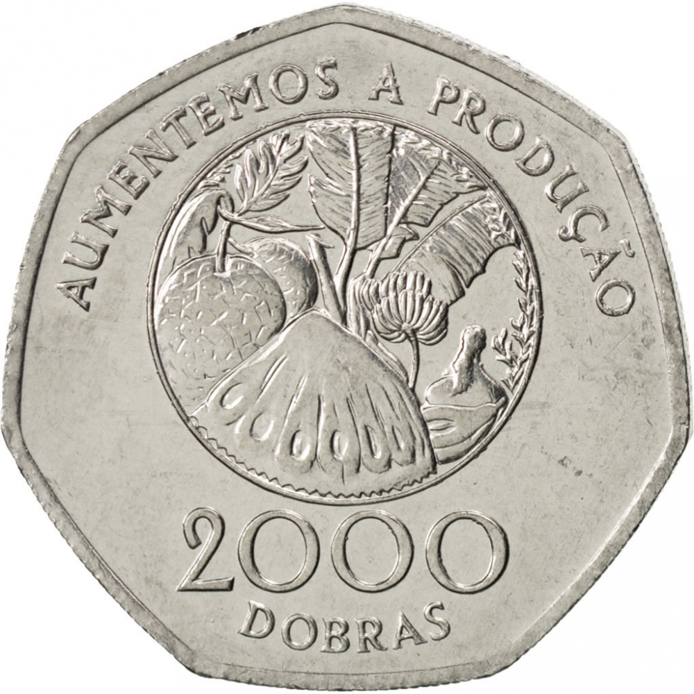 2000 Dobras 1997, KM# 91, Sao Tome and Principe, Food and Agriculture Organization (FAO)