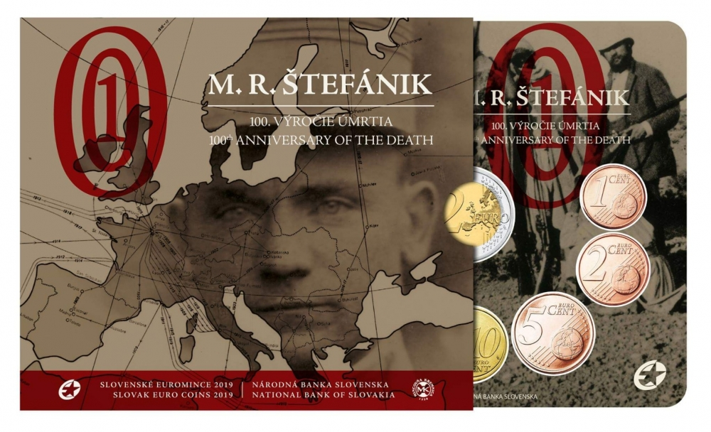 M.R.Stefanik Slovakia 2 Euro Coin Slovakia 2 Euro 2019 commemorative coin