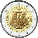 2 Euro 2013, KM# 128, Slovakia, 1150th Anniversary of the Mission of Cyril and Methodius to the Great Moravia
