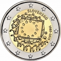 2 Euro 2015, Schön# 132, Slovakia, 30th Anniversary of the Flag of Europe