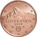 1 Euro Cent 2009-2016, KM# 95, Slovakia