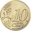 10 Euro Cent 2009-2016, KM# 98, Slovakia