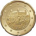 20 Euro Cent 2009-2016, KM# 99, Slovakia