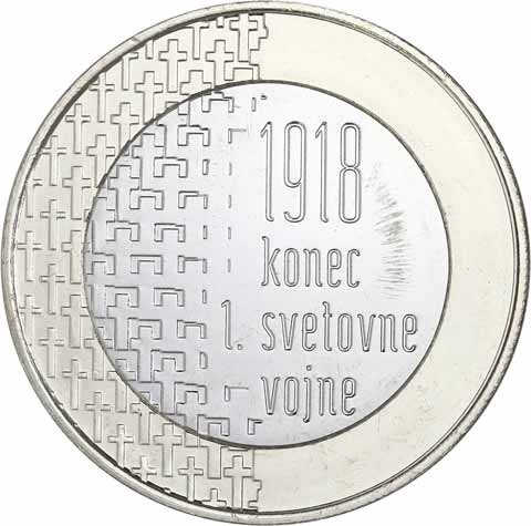 3 Euro 2018, Slovenia, 100th Anniversary of the End of the First World War