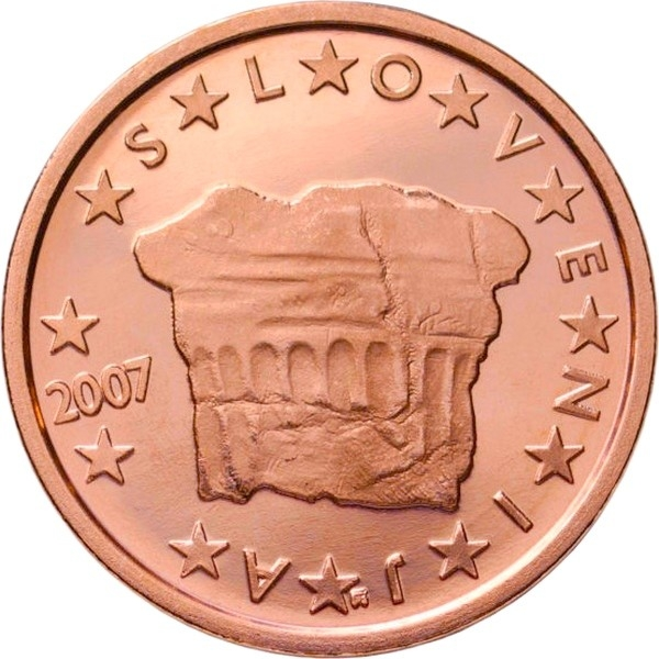 2 euro cent slovenia 2007 2019 km 69 coinbrothers catalog. Black Bedroom Furniture Sets. Home Design Ideas