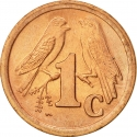 1 Cent 1990-1995, KM# 132, South Africa