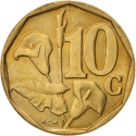 10 Cents 1996-2000, KM# 161, South Africa