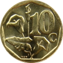 10 Cents 2000-2001, KM# 224, South Africa