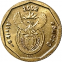 10 Cents 2002, KM# 269, South Africa