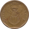 10 Cents 2007, KM# 341, South Africa