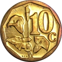 10 Cents 2008, KM# 441, South Africa