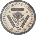 3 Pence 1937-1947, KM# 26, South Africa, George VI