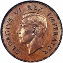 1/4 Penny 1937-1947, KM# 23, South Africa, George VI