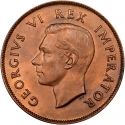 1 Penny 1937-1947, KM# 25, South Africa, George VI