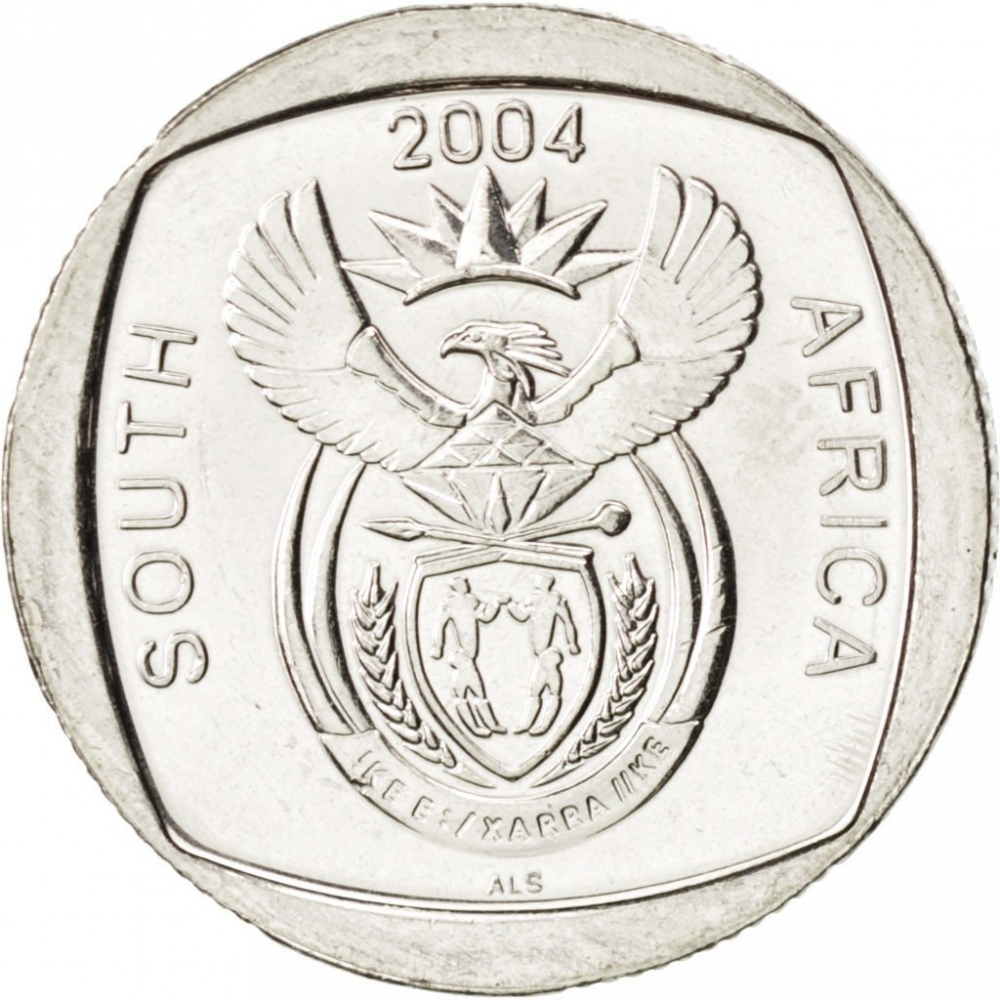 2 Rand 2004, KM# 334, South Africa, 10th Anniversary of the First Multiracial Elections