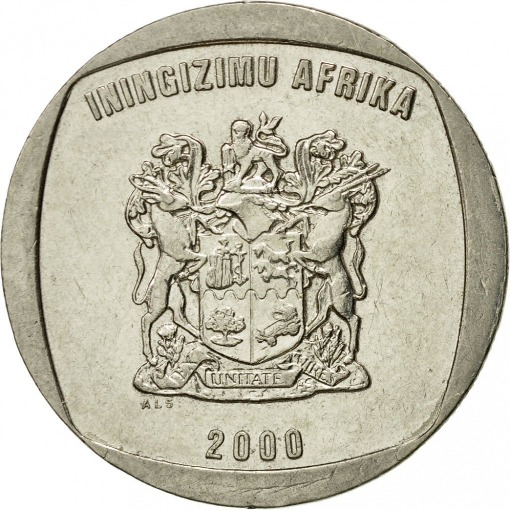 5 Rand 1996-2000, KM# 166, South Africa