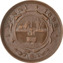 1 Penny 1892-1898, KM# 2, South African Republic (Transvaal)
