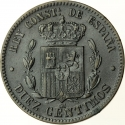 10 Centimos 1877-1879, KM# 675, Spain, Alfonso XII