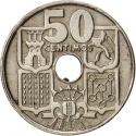 50 Centimos 1951-1965, KM# 777, Spain, Francisco Franco