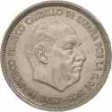 50 Pesetas 1958-1975, KM# 788, Spain, Francisco Franco